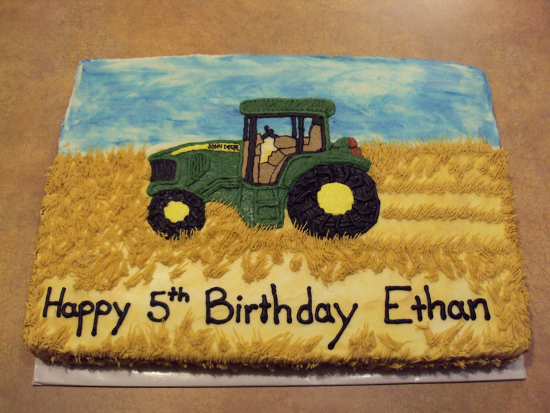 Tractor Cake Decorating : John deere tractor cake